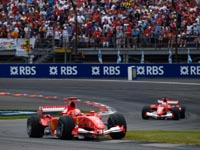 Michael Schumacher, Rubens Barrichello, Ferrari F2005, 2005 US GP